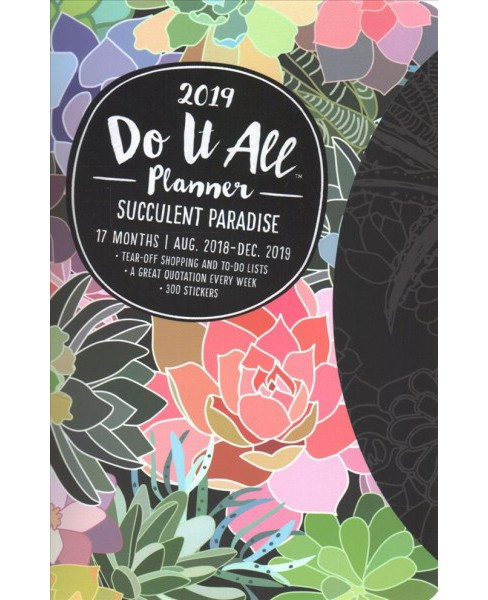 Succulent Paradise Do It All 17 Month 2018-2019 Calendar -  (Paperback) - image 1 of 1