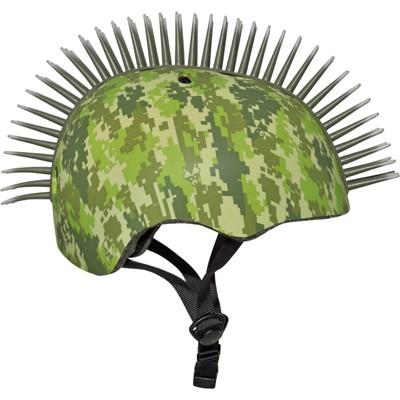 Raskullz Digital Camo Mohawk Child Helmet - Green