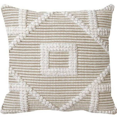 Square Diamond Pillow Neutral/Cream - Opalhouse™