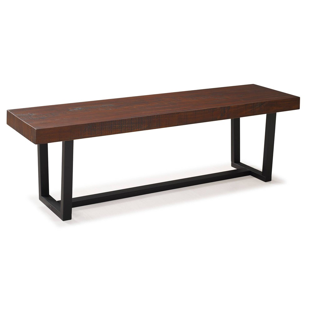 Marvelous 60 Solid Wood Dining Bench Mahogany Brown Saracina Home Pabps2019 Chair Design Images Pabps2019Com