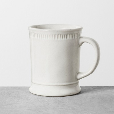 14oz Mug Debossed White - Hearth & Hand™ with Magnolia
