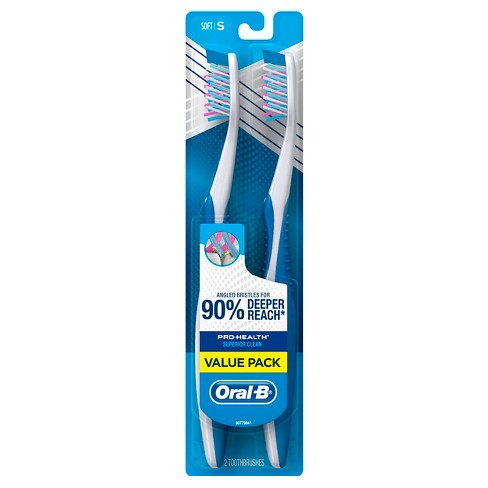 Oral-B Pro-Health Superior Clean Soft Bristle Manual Toothbrush - 2ct - image 1 of 2