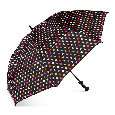ShedRain Air Vent Golf Umbrella  - Black Polka Dot