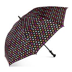 ShedRain Air Vent Golf Umbrella  - Black Polka Dot