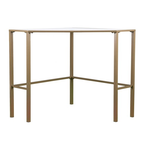 Keylon Metal/Glass Corner Desk - image 1 of 11