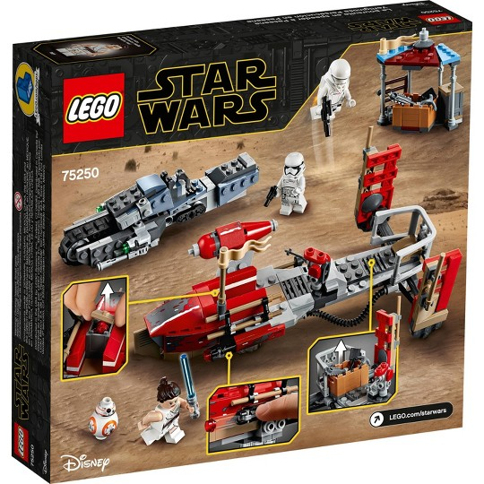 LEGO Star Wars: The Rise of Skywalker Pasaana Speeder Chase 75250 Hovering Transport Speeder Building Kit with Action Figures 373pc image number null