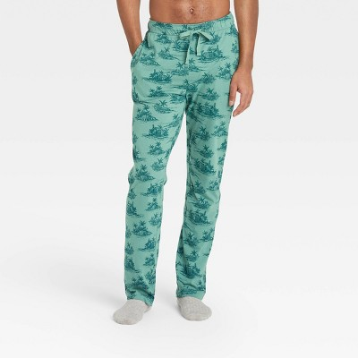 Men's Regular Fit Knit Pajama Pants - Goodfellow & Co™ Dusky Green