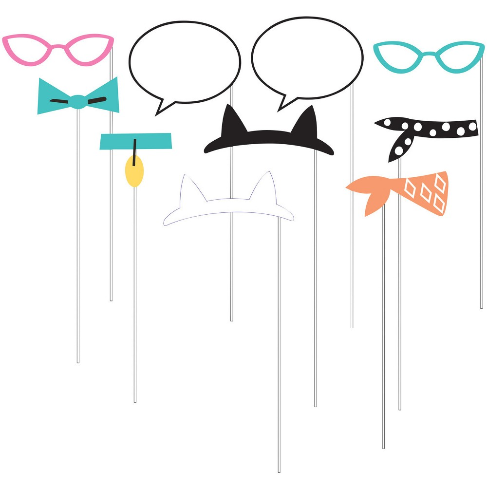 Image of 10ct Cat Print Party Photo Booth Props