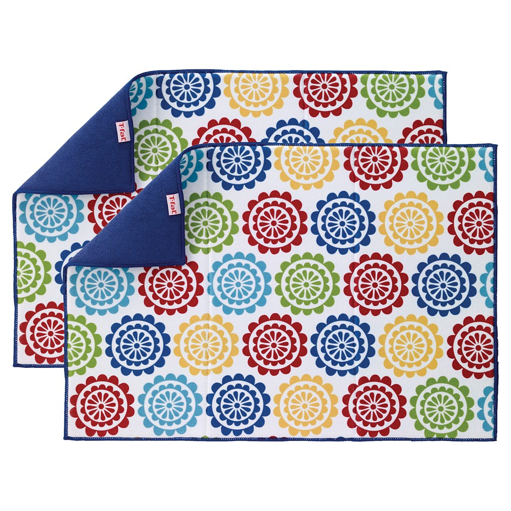 Blue Vine Warm Kitchen Drying Mat 2 Pack (14x21) T-Fal