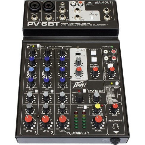 Peavey PV 6 BT Mixer with Bluetooth - image 1 of 1