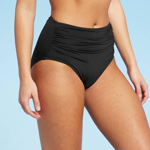 Women's Full Coverage High Waist Swim Bikini Bottom - Kona Sol™ - image 1 of 4