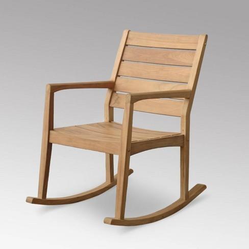 Andrea Outdoor Patio Rocking Chair Teak Cambridge Casual Target