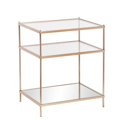 Benton Side Table Warm Gold - Aiden Lane