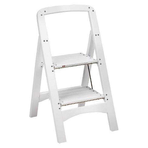 Awe Inspiring Cosco Folding Wood Step Stool Frankydiablos Diy Chair Ideas Frankydiabloscom