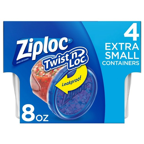 Ziploc Twist 'n Loc Extra Small Containers - 4ct - image 1 of 4