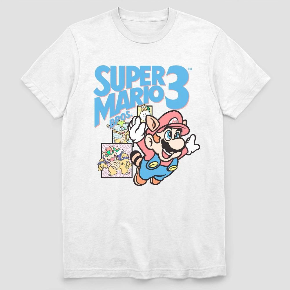 Image of Men's Nintendo '90s Super Mario Short Sleeve Graphic T-Shirt - White L, Men's, Size: Large