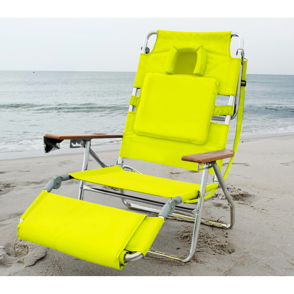 Ostrich Deluxe Face Down 3 In 1 Beach Chair Green Deltess