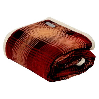 Raisin Nordic Plaid Sherpa Throw (50 X70 )- Eddie Bauer®