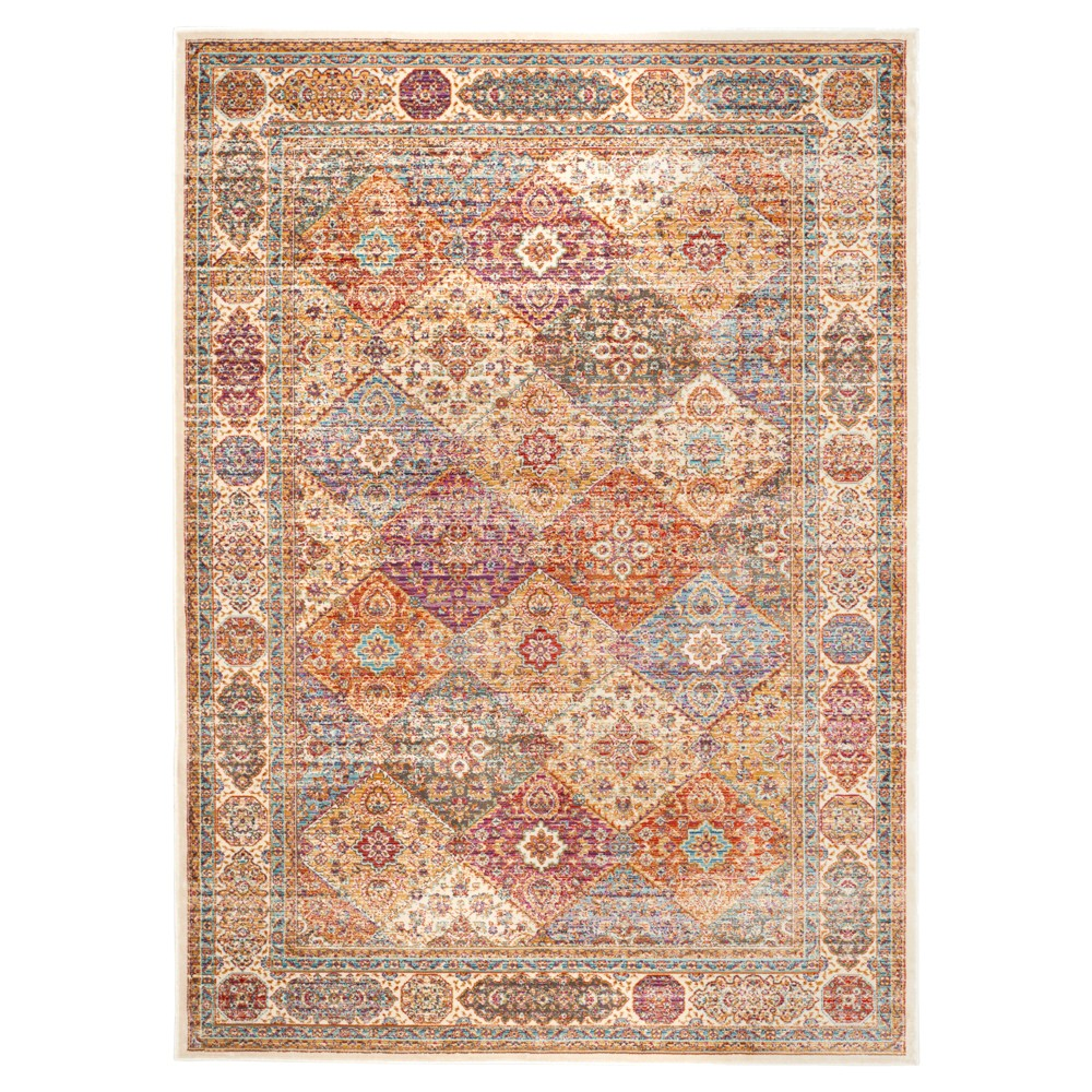 Theo Accent Rug - Ivory(4'X5'7) - Safavieh, Multicolored White