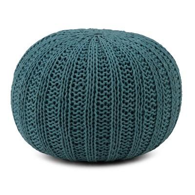 Grandville Hand Knit Round Pouf - WyndenHall