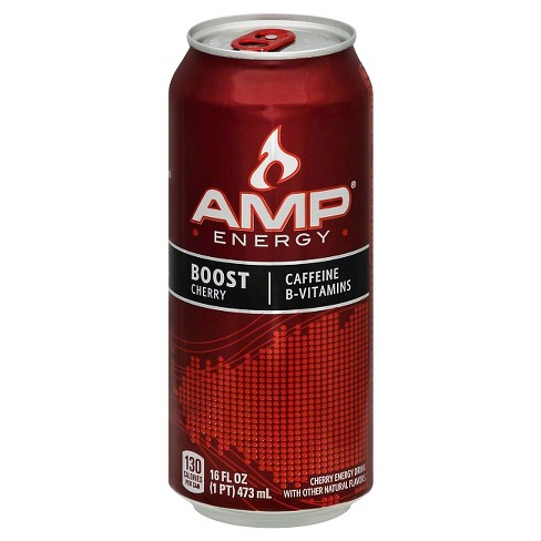 AMP Energy Boost Cherry - 16 fl oz Can - image 1 of 2