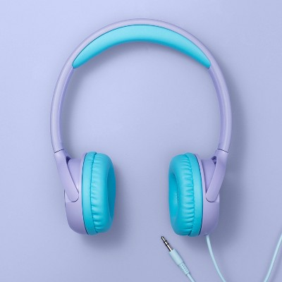 Wired On-Ear Volume Limited Headphones - More Than Magic™ - Purple Glitter