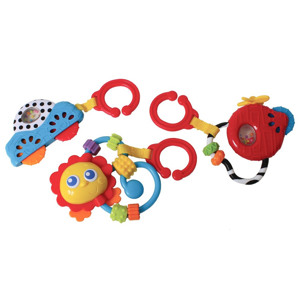 Playgro Go with Me Rattle Pack Neutral