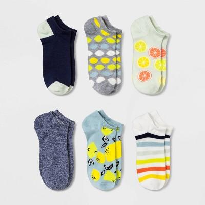 Women's Citrus 6pk Low Cut Socks - Xhilaration™ Blue 4-10