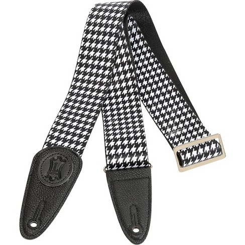 Levy's 2 in. Sublimation Houndstooth Guitar Strap Black 2 in. - image 1 of 1