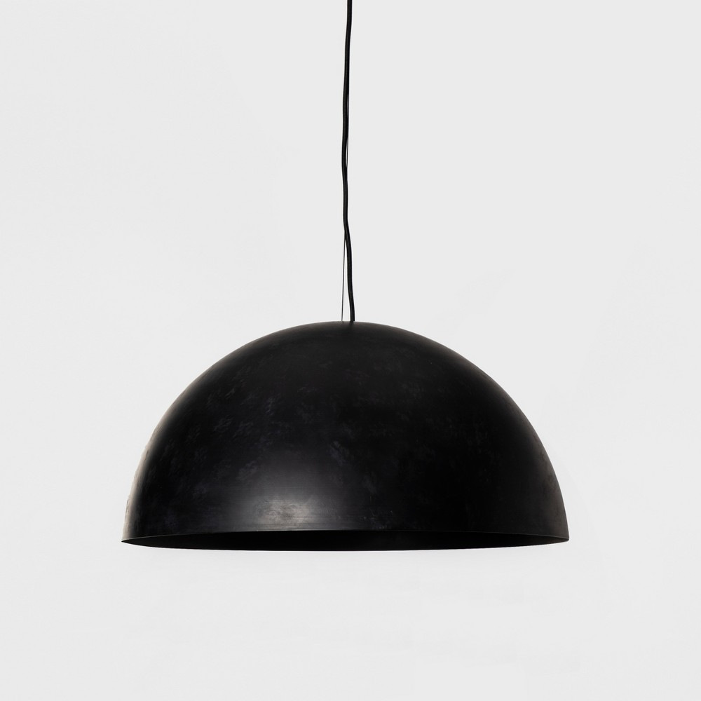 Metal Dome Large Pendant Lamp Black (Includes Energy Efficient Light Bulb) - Project 62 + Leanne Ford