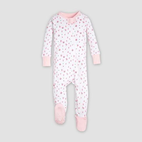 11e790123 Burt s Bees Baby® Organic Cotton Girls  Tulip Sleeper - Pink   Target