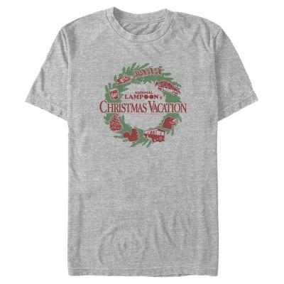 Men's National Lampoon's Christmas Vacation Wreath Logo T-Shirt