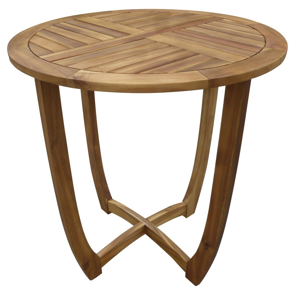 Carina Round Acacia Wood Accent Table - Teak (Brown) - Christopher Knight Home