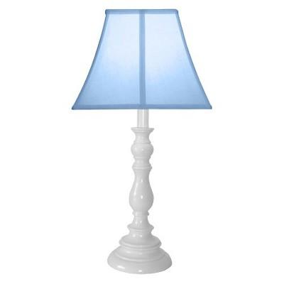 White Resin Table Lamp