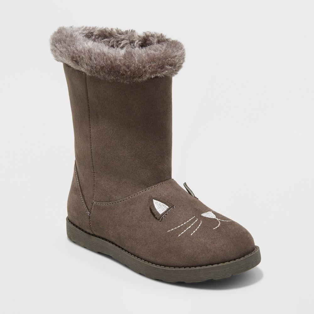 Girls' Rena Fashion boots - Cat & Jack Gray 5