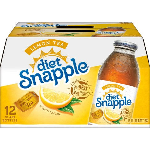 Diet Snapple Lemon Tea - 12pk/16 fl oz Glass Bottles - image 1 of 3