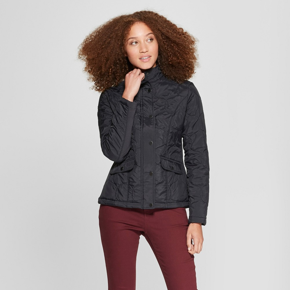 Women's Quilted Jacket - A New Day Black S