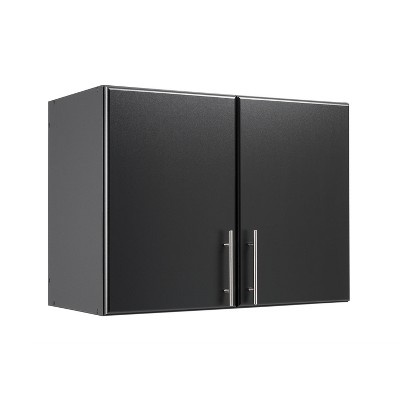 "32"" Elite Stackable Wall Cabinet Black - Prepac"