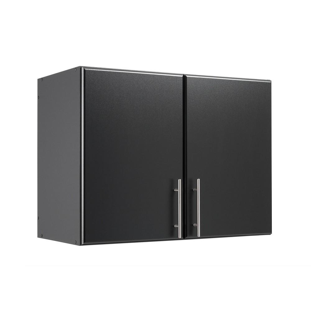 32 Elite Stackable Wall Cabinet Black - Prepac