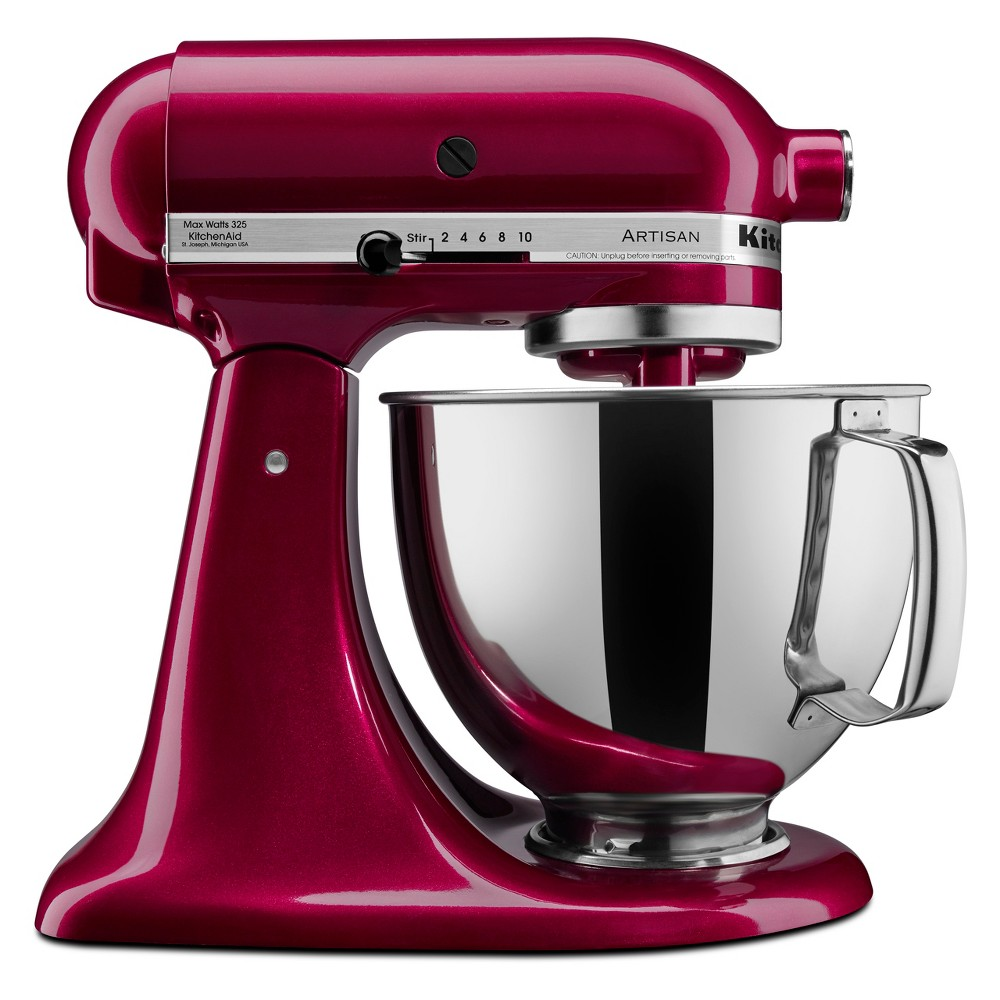 KitchenAid Refurbished Artisan Series 5qt Stand Mixer – Bordeaux (Red) RRK150BX 53499037