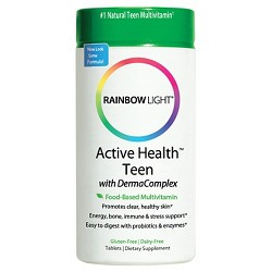 Rainbow Light Active Health Teen Multivitamin / Mineral Dietary Supplement Tablets - 60ct