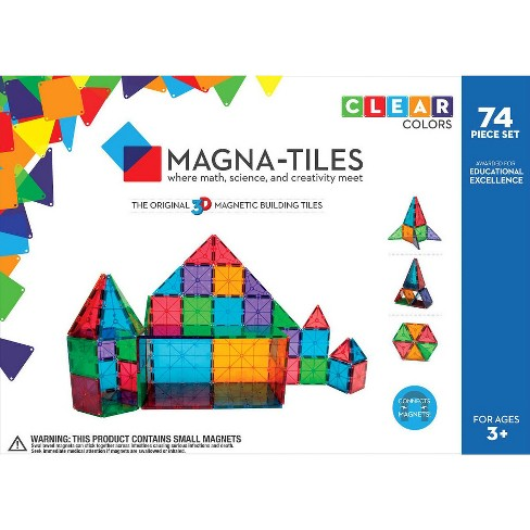 Valtech Magna-Tiles Clear Colors 74 Piece Set - image 1 of 7