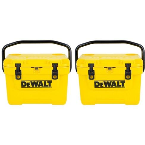 DeWalt DXC10QT Roto-Mold Design 10 Quart Insulated Lunch Box, Yellow (2  Pack)