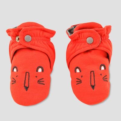 Baby Slipper Socks with Lion Face - Cat & Jack™ Orange 3-6M