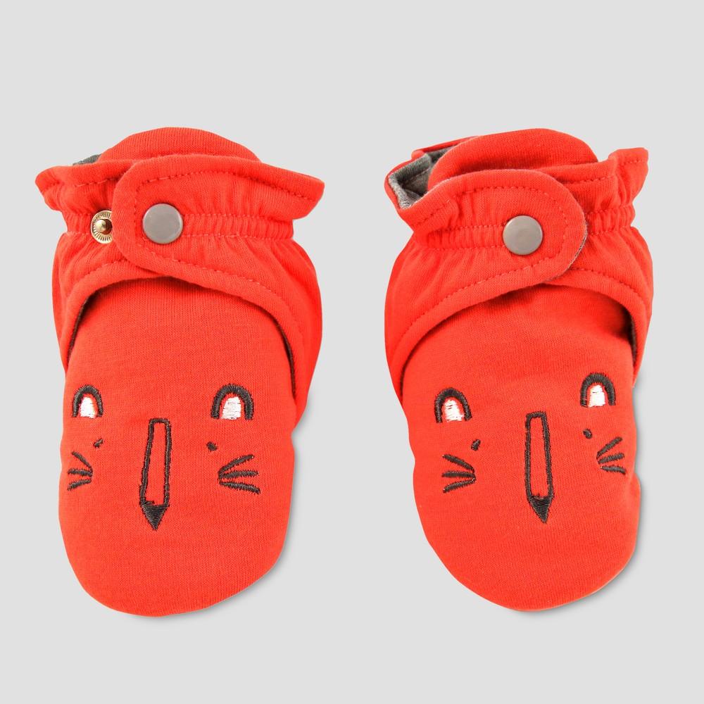 Baby Slipper Socks with Lion Face - Cat & Jack Orange 6-9M, Infant Unisex