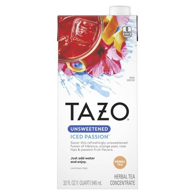 Tazo Unsweetened Passion Iced Tea Concentrate - 32oz