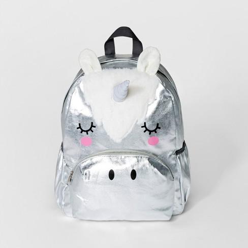 54494b9045 Girls  Unicorn Backpack - Cat   Jack™ Silver   Target