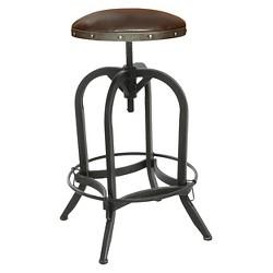Dakota Adjustable Wood Seat Barstool Threshold Target