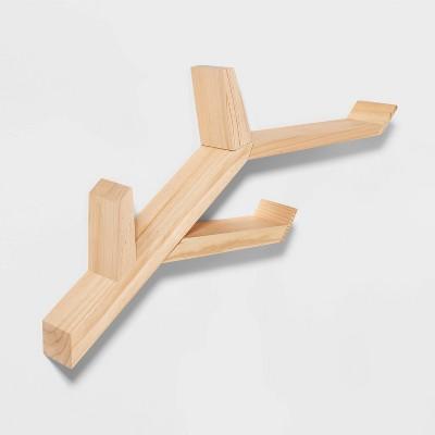 Wood Tree Shelf Brown - Pillowfort™