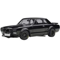 "1972 Nissan Skyline GT-R (KPGC-10) Racing Black ""Millennium"" 1/18 Diecast Model Car by Autoart"